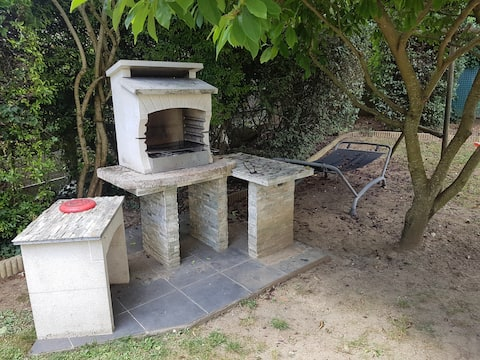 Dépendance privative avec jardin à 22 mn de Paris