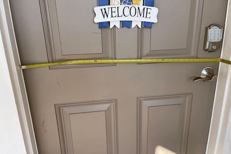35in entrance to condo