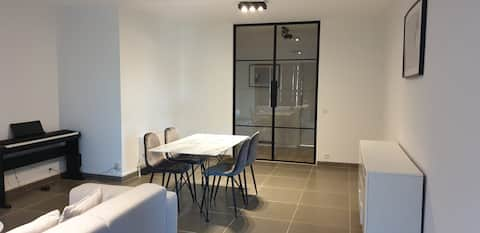 Nice apartment with modern looks incl free bikes.