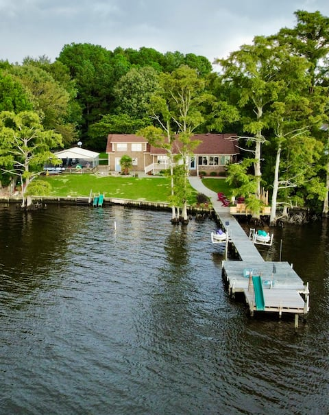 Private Riverfront Retreat Just Outside of Town.