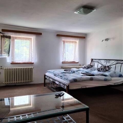 Podkrovní ubytování v centru Štramberku