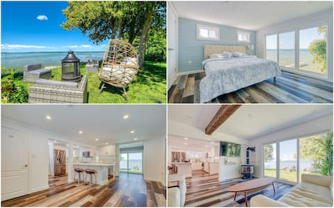 Newly Renovated Water Front Cottage On Lake Simcoe