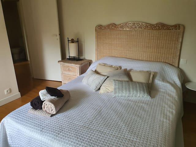 chambre 1 avec un lit 140 x 190