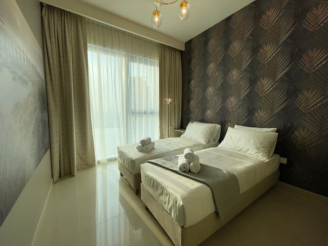 Second Bedroom / 2 single beds can be transformed into 1 comfortable double bed (upon request)