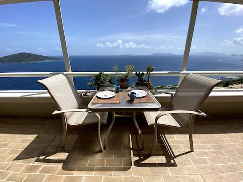 Panoramic Island Vista w/ Pool (car available)
