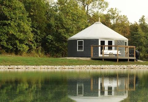 Luxurious Waterfront Yurt on 10 Acres