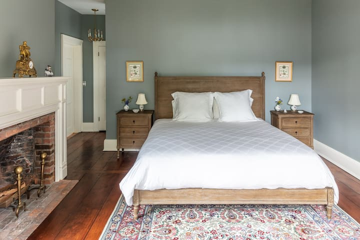 French Room or gray room with king size bed