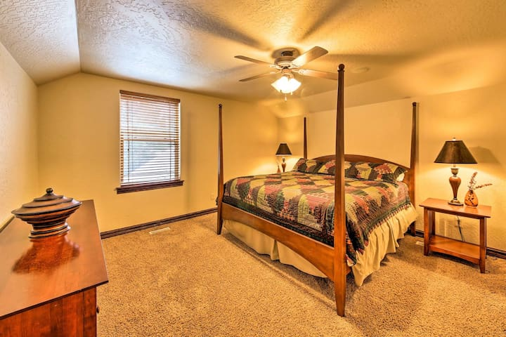 Bedroom No. 2 is located on the private second floor and features a king-sized mattress, plenty of storage and a generous closet