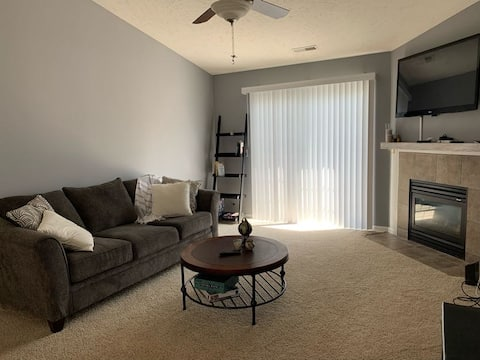 Spacious two-bedroom Condo with deck and fireplace