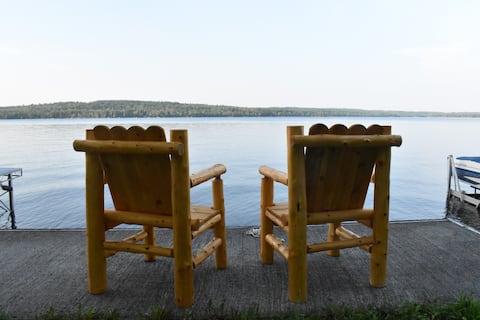 Sebec Lakefront Cottage, Swim/Boat/BBQ from deck