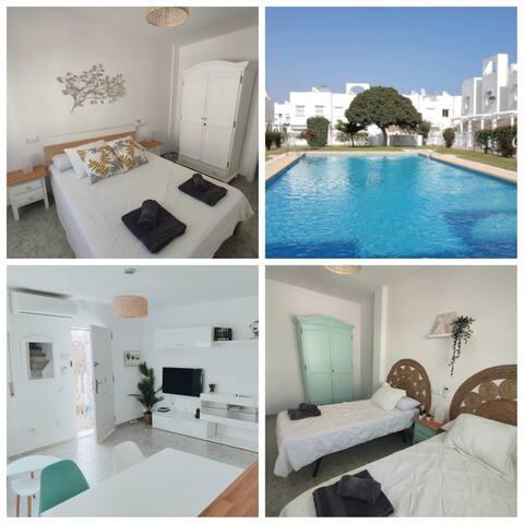 Casa Molina-Dúplex con solárium privado-Vera Playa