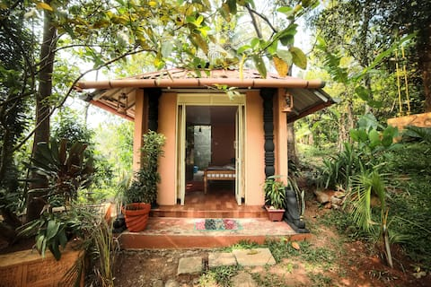 Open Shower Tiny Home at Tulsi Village Retreat