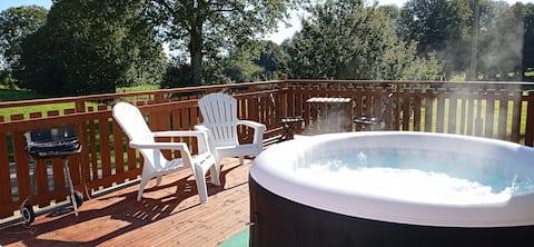 Stylish loft studio apartment with terrace hot tub