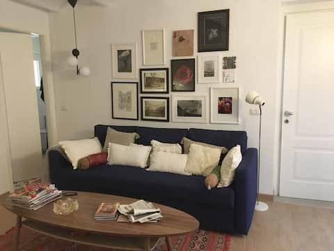 Romántico y moderno apartamento de un dormitorio junto al canal
