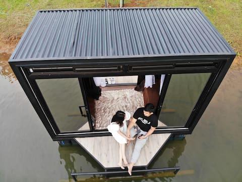 Experience & Enjoy: Lake Floating Tiny Boat House!