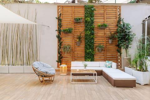 G&G Green Garden ★★★★★ Apartamento con una terraza exterior de más de 60 metros cuadrados.