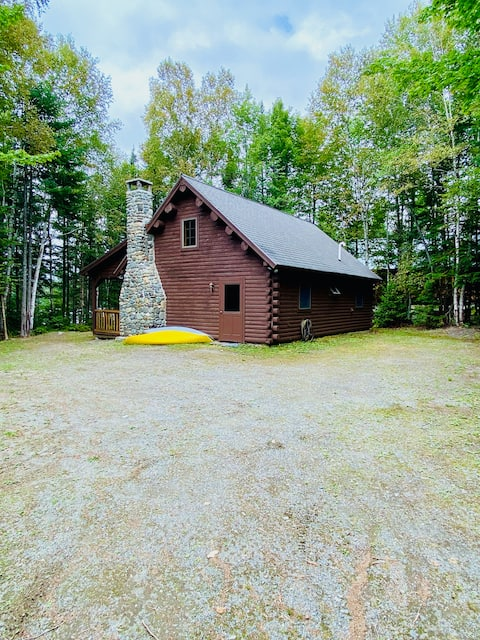 Down Home Log Cabin on Lower Wilson Pond