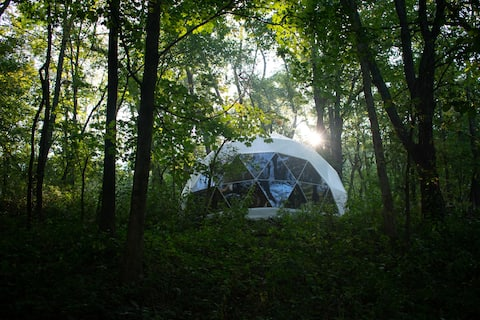 ★ Glamping Dome ★ Hot Tub, River Access & View