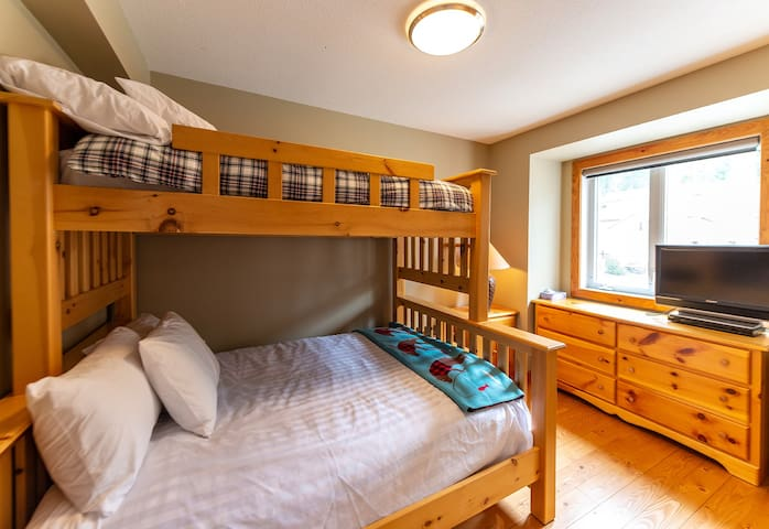 3rd bedroom with a bunk bed - twin over double (main floor)