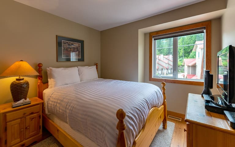 Master bedroom with a Queen bed (upper floor)