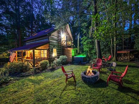 Twin Creeks Refuge, a log cabin, Pet friendly