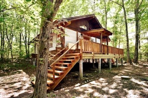 Forest Log House TWIG/6ppl/BBQ&Pizza OK
