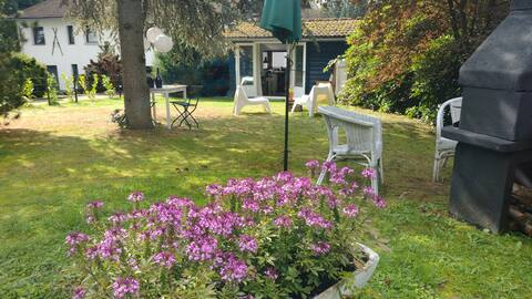 CHALET-Gezellige bungalow met 200m2  omheinde tuin