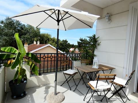 T2 charme, terrasse, clim aux portes de Bordeaux