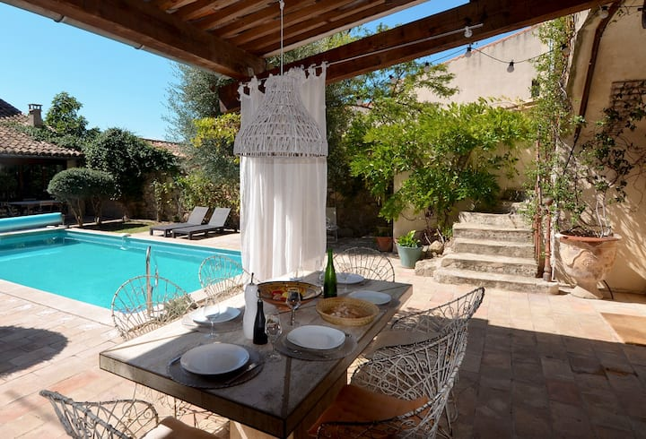 Beautiful house with pool and Aircon near Pezenas