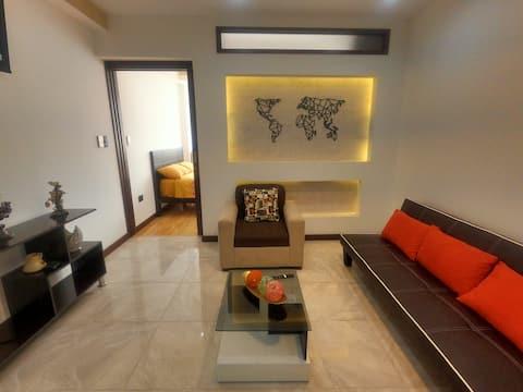 Suite moderna, confortable con excelente ubicación