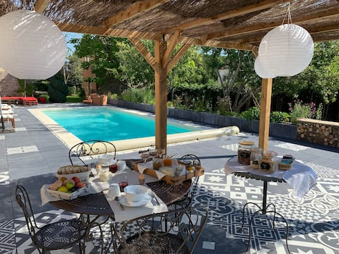 Ferienhaus 6 Personen mit Pool - Domaine des Diablotins