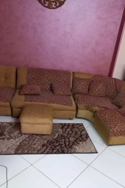Lovely clean two bed room beside airport