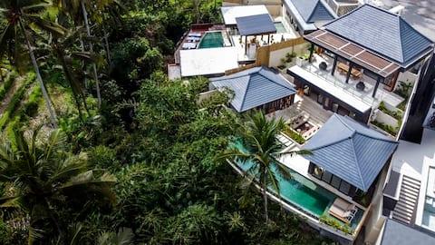 Brand New! Stylish 4 Bdr Villa w/ Jungle View Ubud