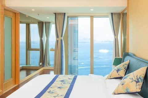 【拾光•大海】海景民宿|一线观海|独立衣帽间|轻奢风格家具