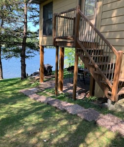 Private entrance is through the patio on the lakeside of the house