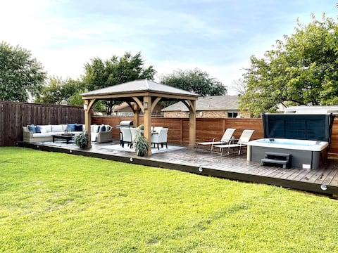 带热水浴缸和户外绿洲的3卧室房源