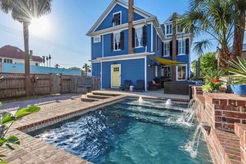 NEW My Blue Heaven! Beach Home Heated Pool 2 Kings
