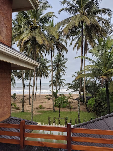 A serene beach house on the North Keralan coast