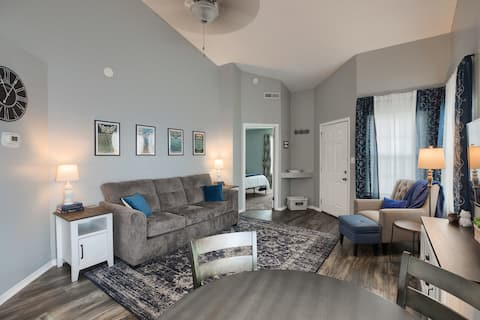 Comfortable 2 bedroom with 2 private baths, patio.