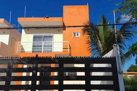 Casa MarAzul a 10 min playa,5 minBlvd,rio,parqueWF
