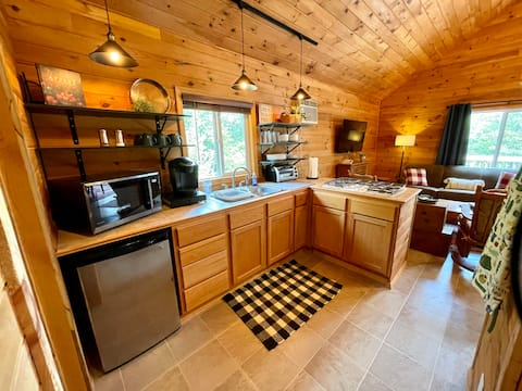 Cozy and Rustic Cabin in the Woods Sleeps 1 -3