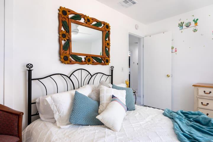 Cactus Room - Bedroom #3   Entrance View  Queen bed