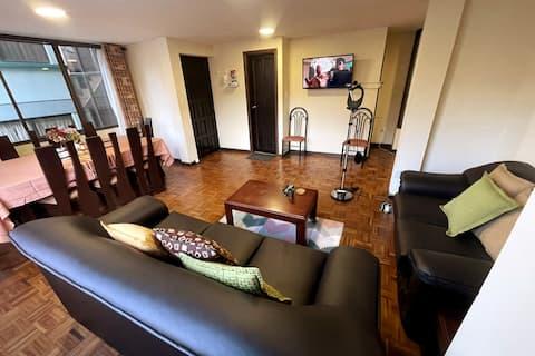 2 Bedroom Apt w free Garage:  walk to Teleferico