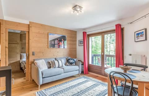 Bel appartement avec vue dégagée sur la montagne