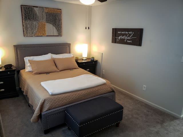 Main bedroom. A tranquil escape to decompress and melt the stress away.