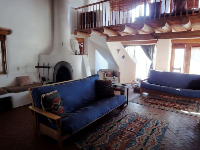 Livingroom with loft above