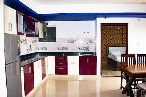 Fully Furnished 1BHK with 2 Bed