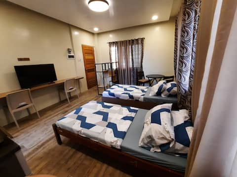 1 Spacious Bedroom with Kitchen Area & Private CR