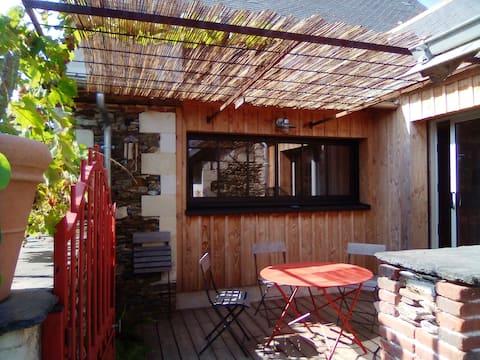 Maison dans hameau de bord de Loire