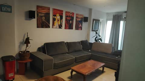 Designed apartment fully furnished with large yard